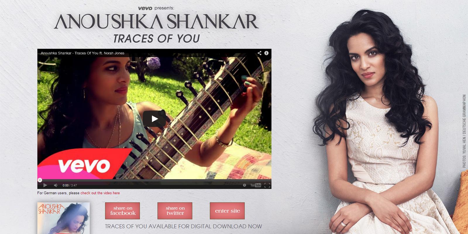 Anoushka Shankar Vevo Landing